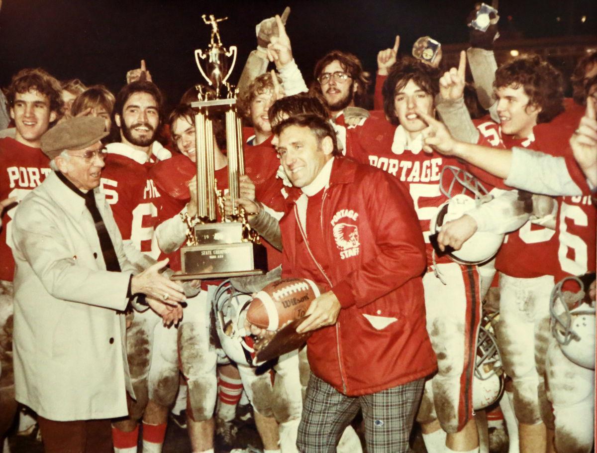 Former Portage football coach Les Klein