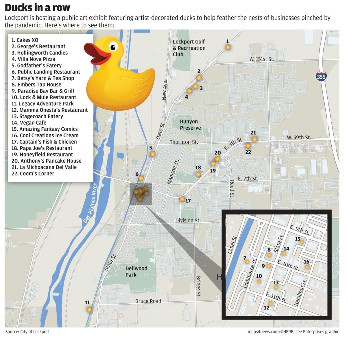 Lockport enlists ducks to help patrons flock back to small businesses