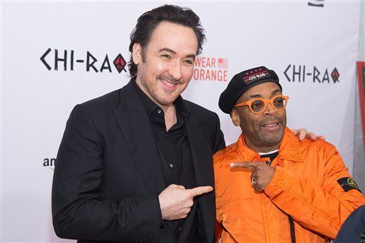 "John Cusack and Spike Lee at the premiere of ""Chi-Raq"""