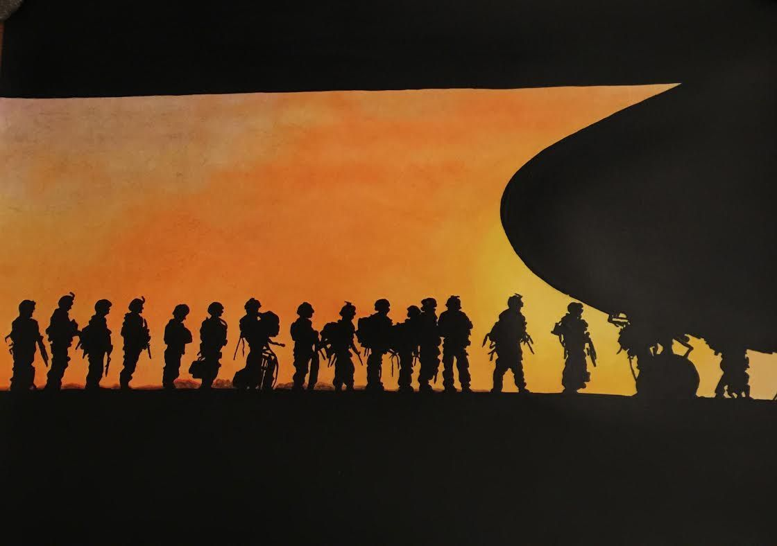 Silhouette series shines light on military service