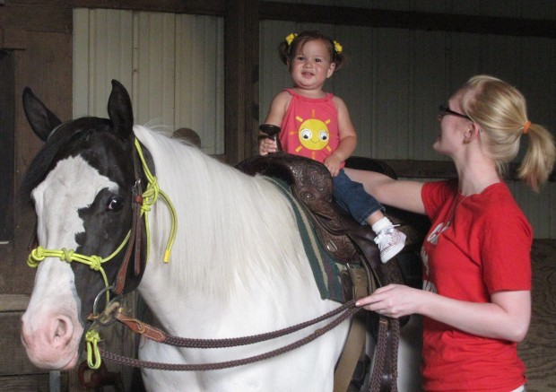 Fair queen contestant survives fall from horse