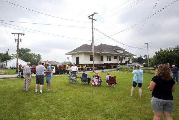 Historic train depot on the move