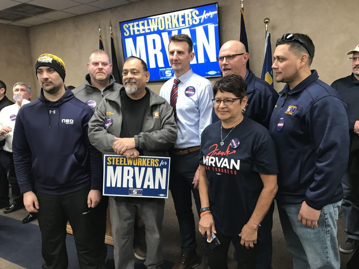 Frank Mrvan endorsed by United Steelworkers of America