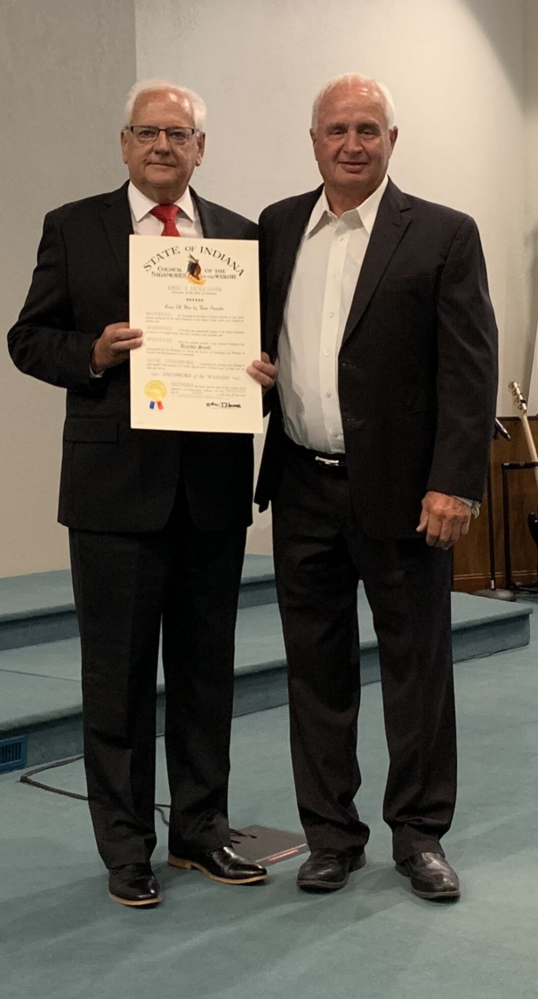 Indiana governor names Merrillville pastor a Sagamore of the Wabash