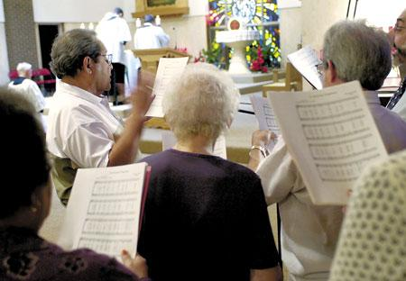 Latin Mass fills pews at Munster monastery