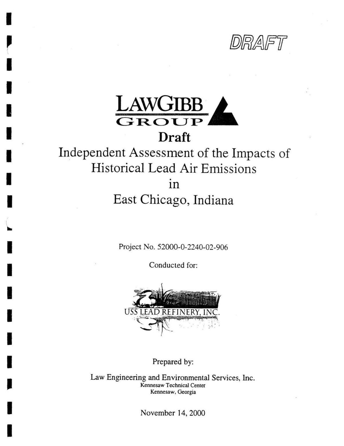 2000 LAW Engineering report