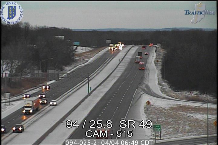 Roads in northern Porter, LaPorte counties slippery after overnight dusting of snow