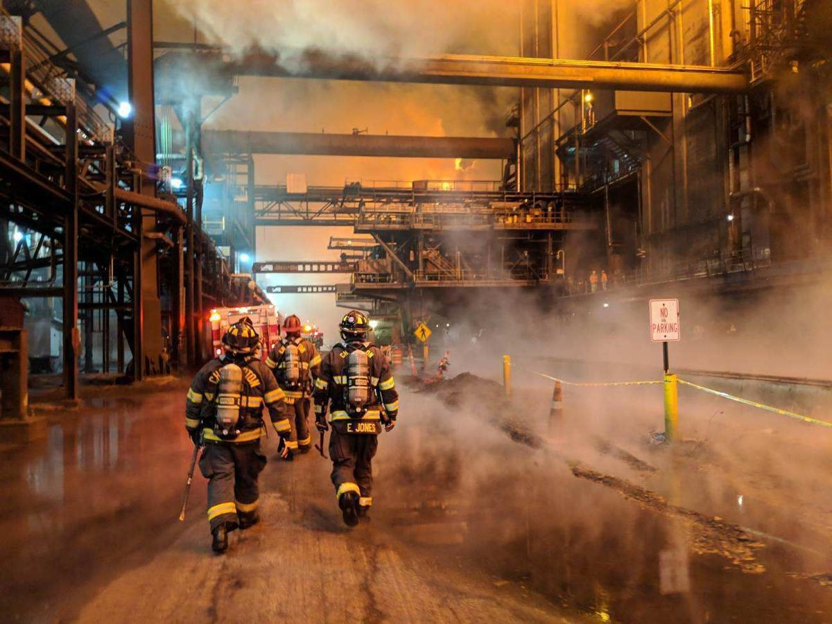 Firefighter taken to hospital after assisting ArcelorMittal with 2 blazes at Burns Harbor plant