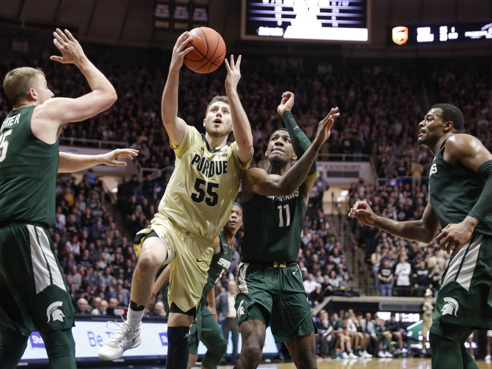Watch Crown Point Native Sasha Stefanovic Stepped On In First Half As Purdue Hosts Illinois Purdue Boilermakers Basketball Nwitimes Com
