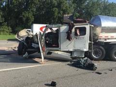 Tanker driver injured in I-80/94 crash