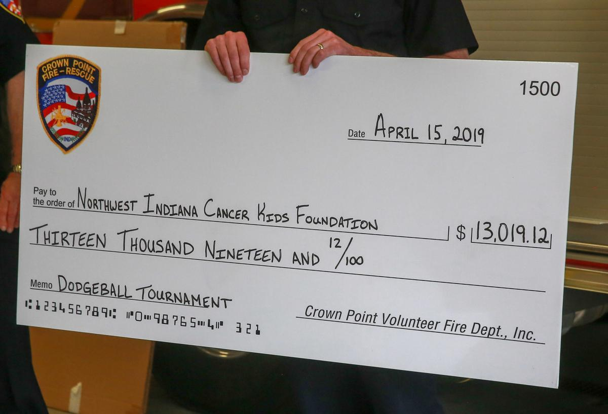Northwest Indiana Cancer Kids Foundation receives check from the Crown Point Volunteer Fire Department, Inc.