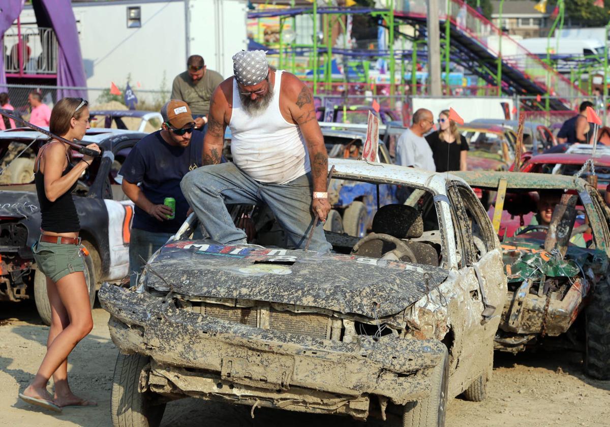 demolition derby, lake county fair