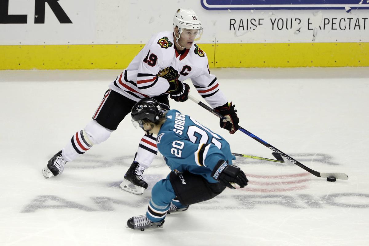 Blackhawks Sharks Hockey