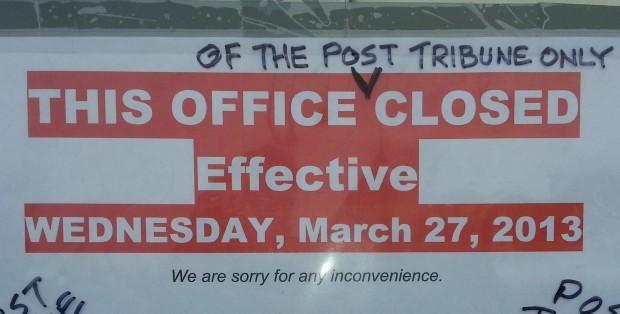 Post-Tribune closes doors in Merrillville