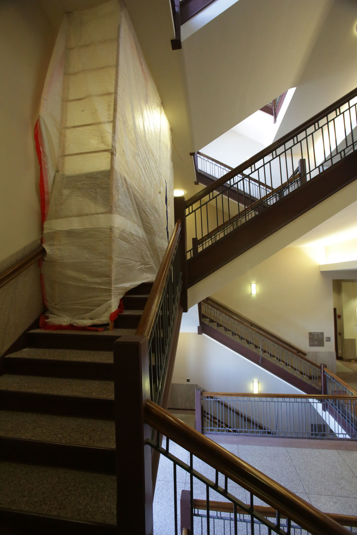 Major work at Porter County Courthouse  halfway done