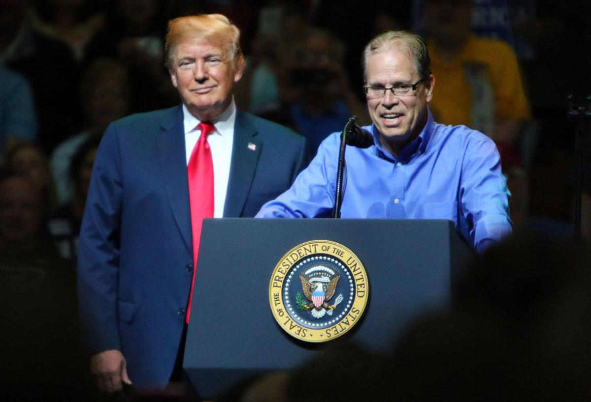 President Donald Trump and Mike Braun