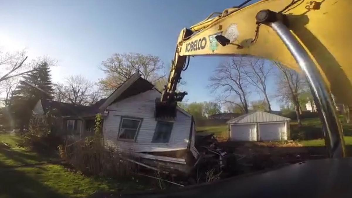 A house on South St. in Crown Point is demolished last year