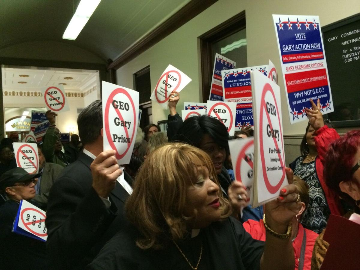 Protesters, supporters come out for GEO meeting