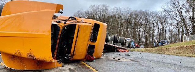 Semi wreck closes US 20 in LaPorte County