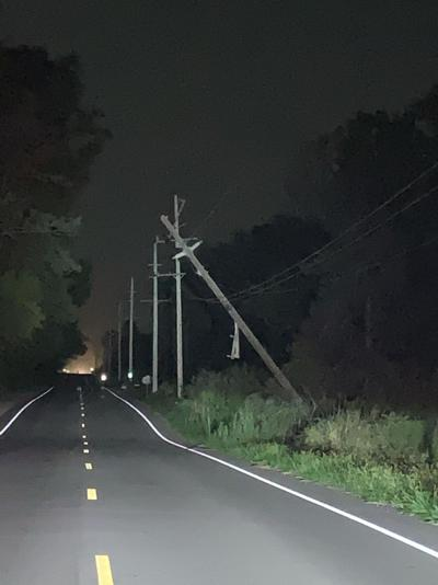 Pole struck