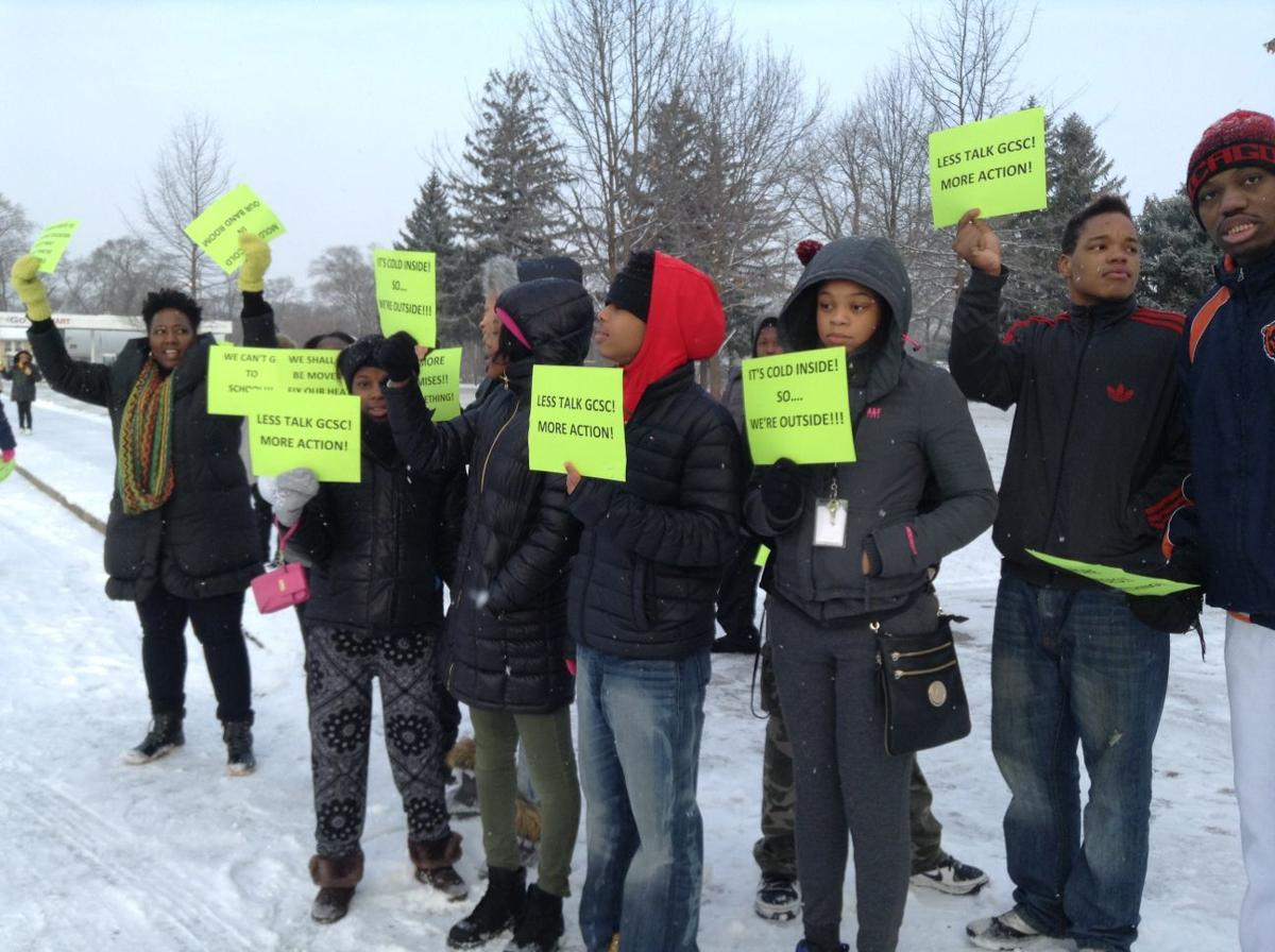 Gary Roosevelt students protest lack of heat