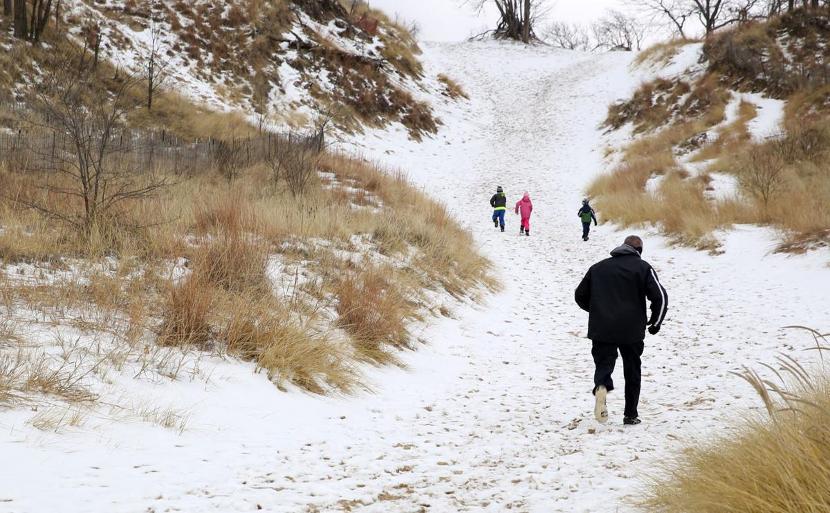 Pavicich Family enjoys hiking at the Dunes