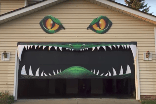 We Can't Stop Watching This Scary Garage Door In Action