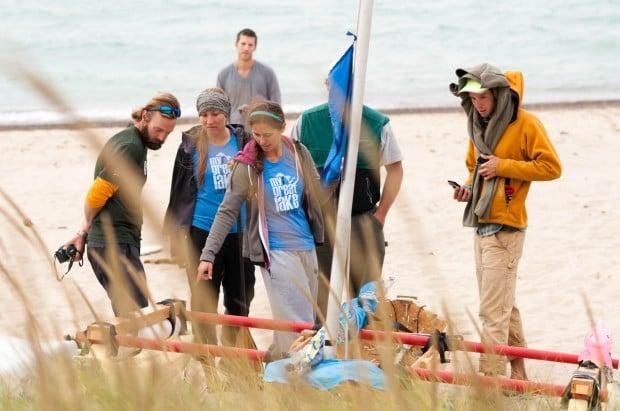 Two women return after journey around Lake Michigan