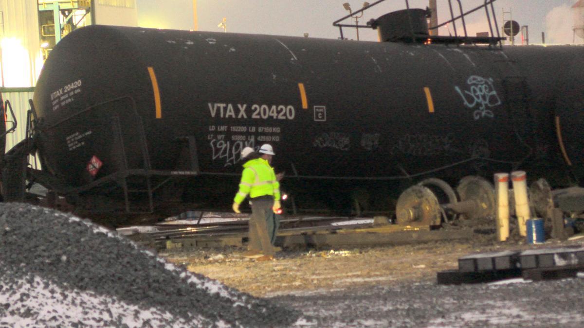 Freight Train Derails in E.C.