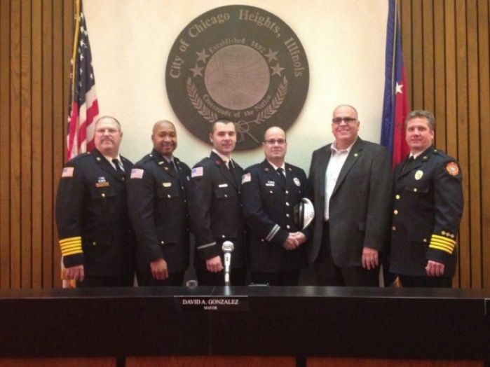 3 promoted at chicago heights fire department