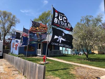 'Obscene' anti-Biden flag attracts attention of Hammond code enforcement