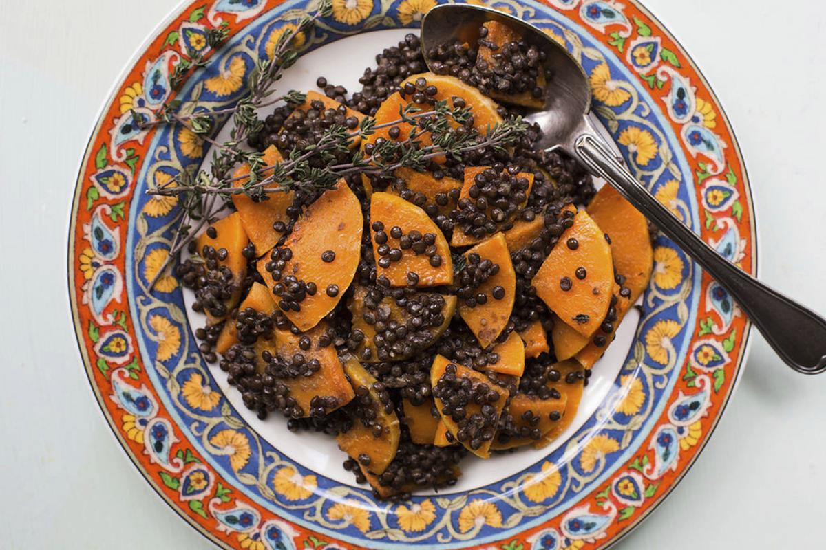 Food Deadline Black Lentil and Butternut Squash