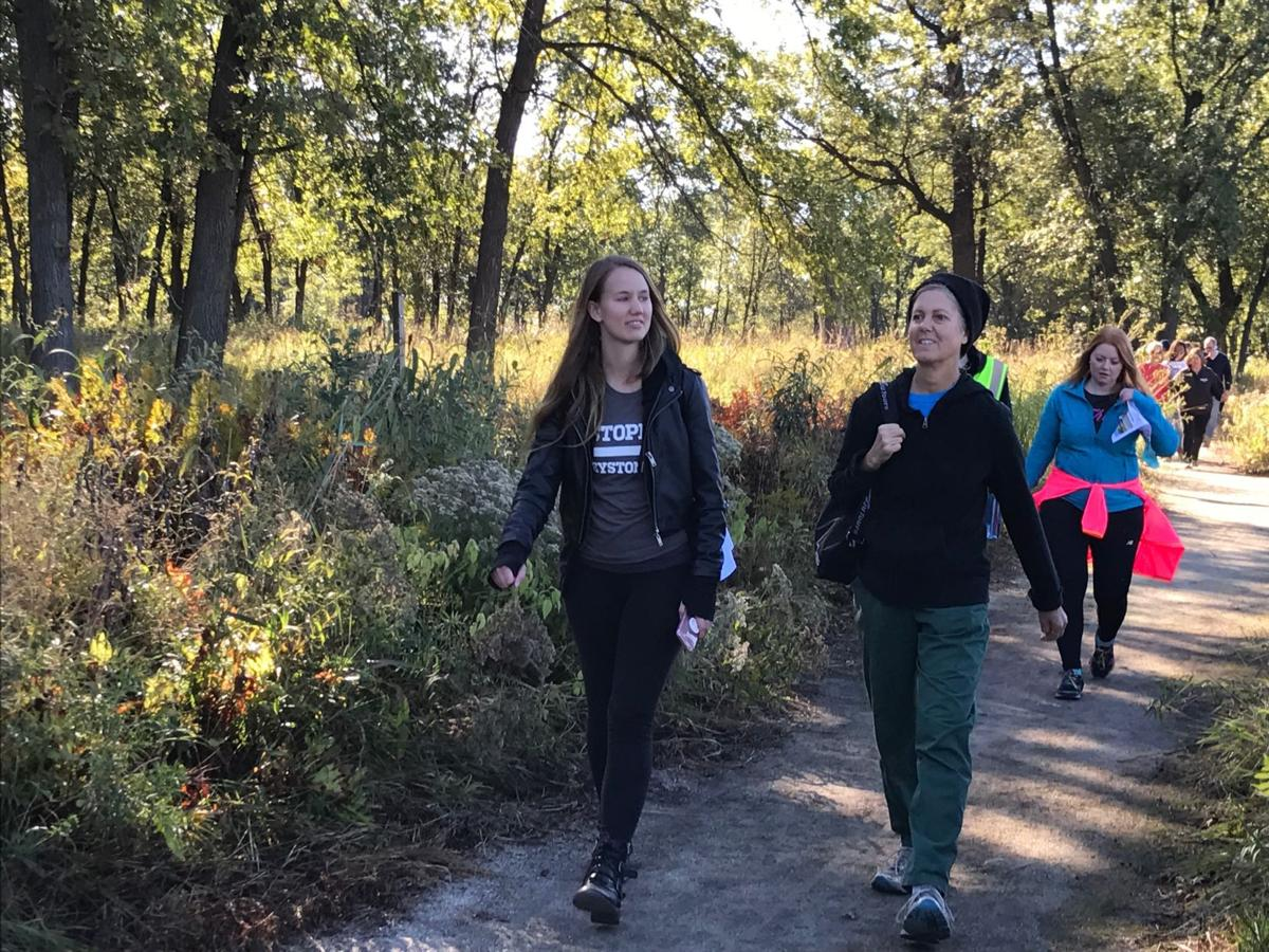 Activists walk the Enrbridge pipeline route, call for transition to renewable energy
