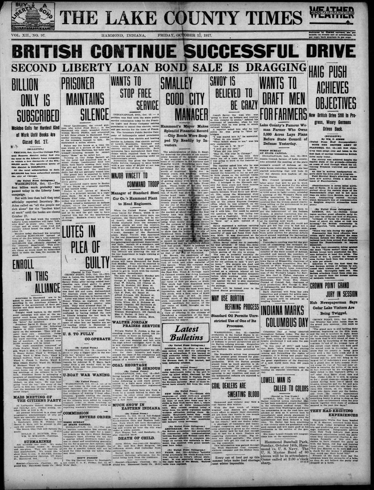 Oct. 12, 1917: May Use Burton Refining Process