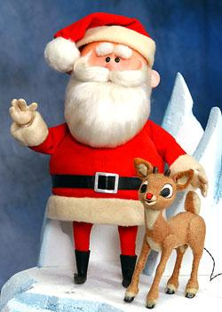 rudolph and santa from 1964 tv special now in good hands - Rudolph And Santa