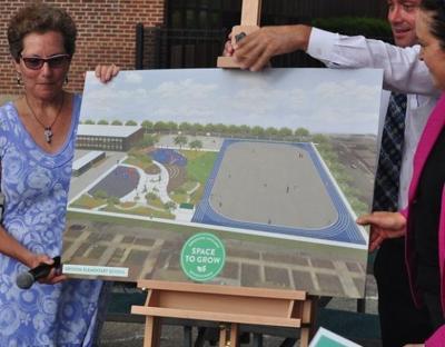 Hegewisch school unveils plan for 'green' playground