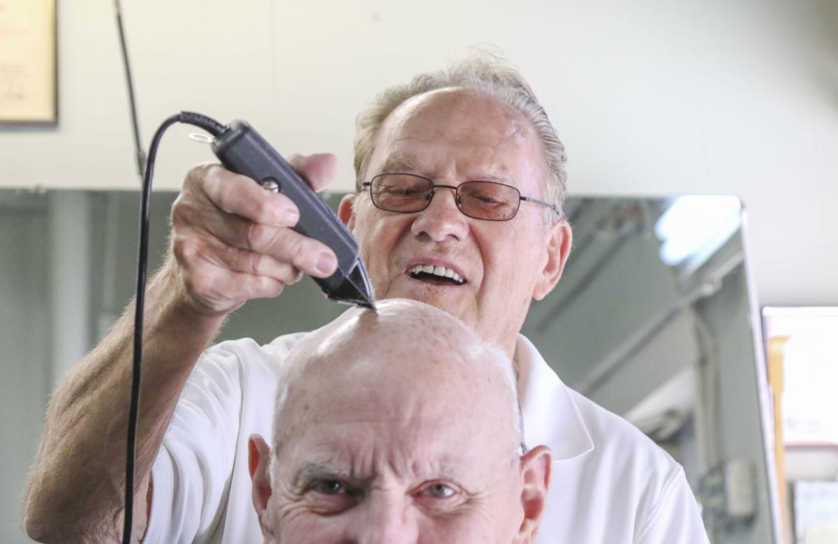 Barber John Saylor retiring