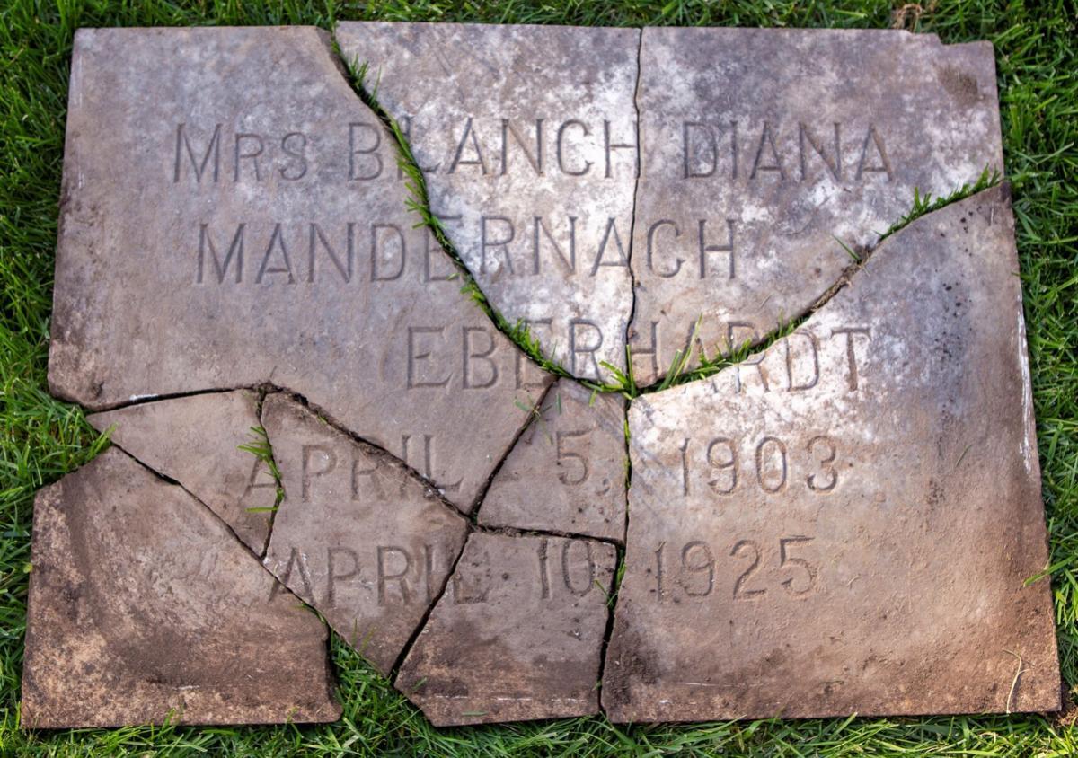 Blanche Eberhardt grave marker
