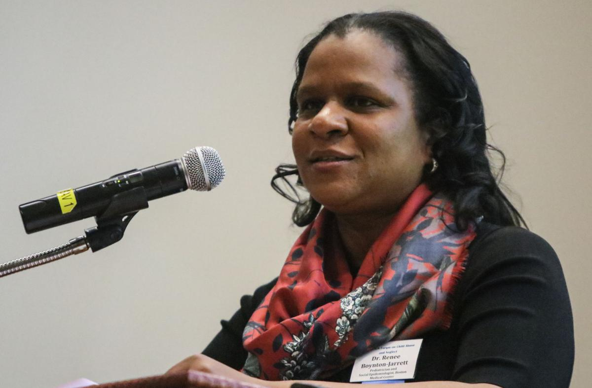 Renée Boynton-Jarrett gives the keynote speech at the 26th Annual IUN Forum on Child Abuse and Neglect