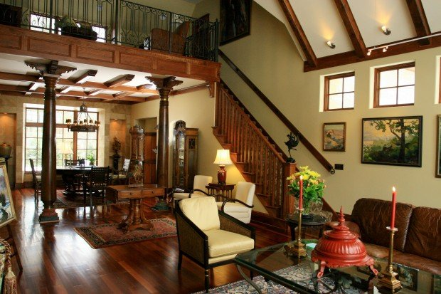 British colonial style home evokes an exotic vibe home - Colonial style homes interior ...