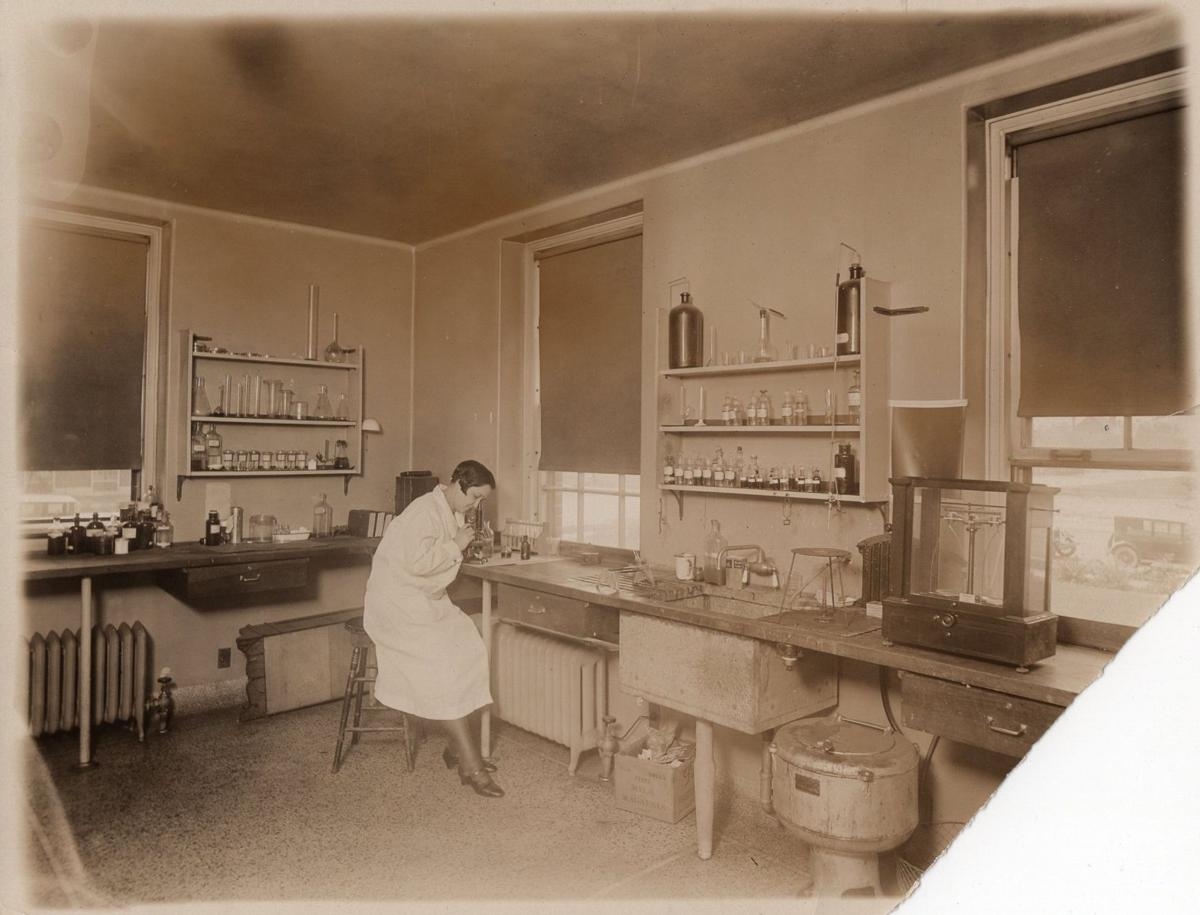 Working in the laboratory