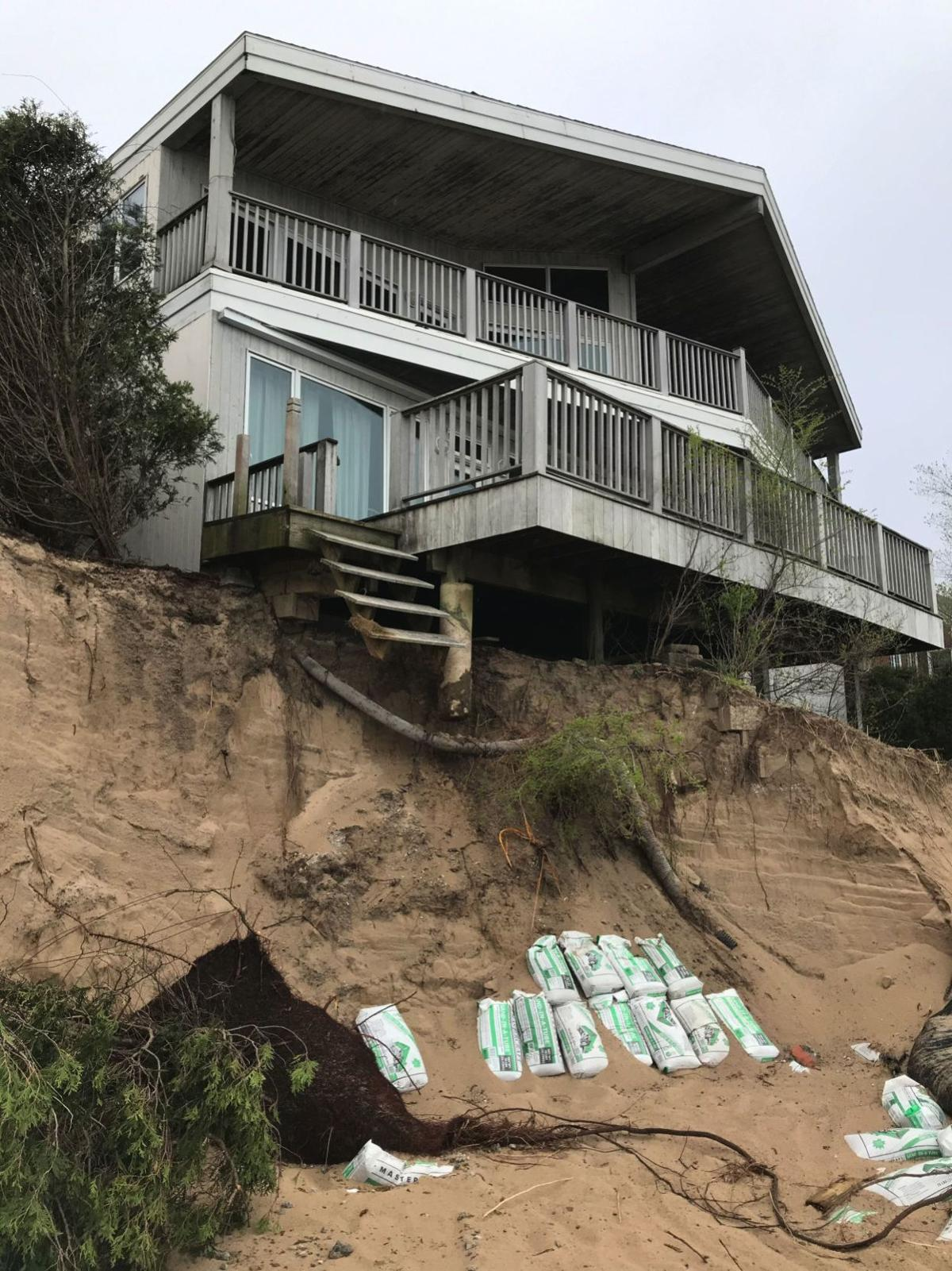 Ogden Dunes beach erosion