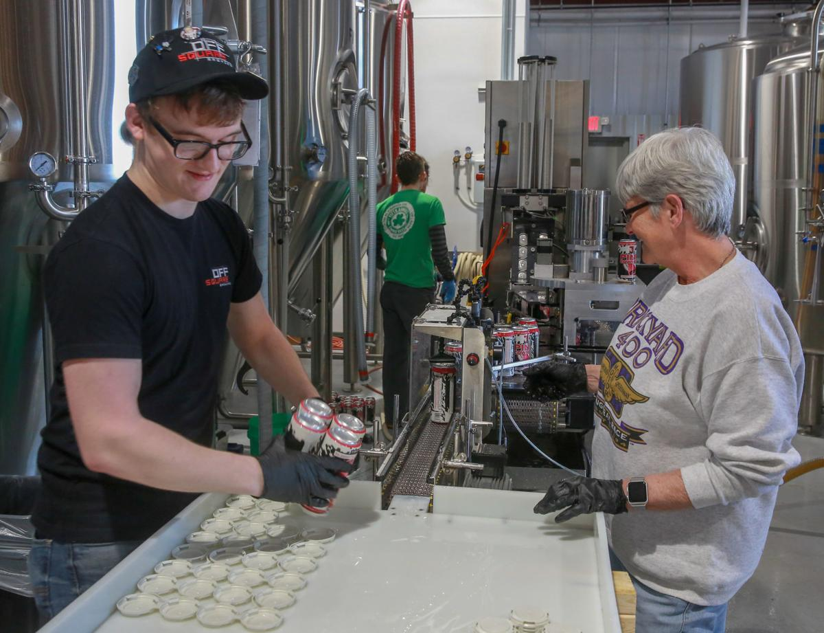 Off Square Brewing's canning line