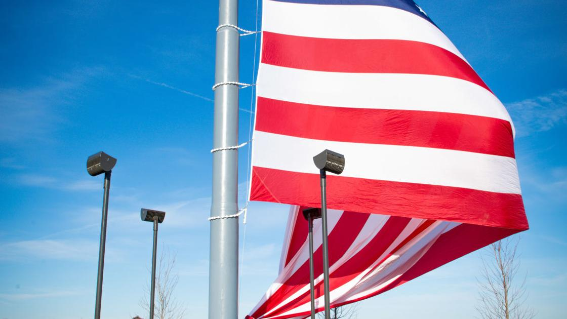 One of largest flagpoles in country installed on Lake Michigan shoreline outside Hammond's new lakefront data center