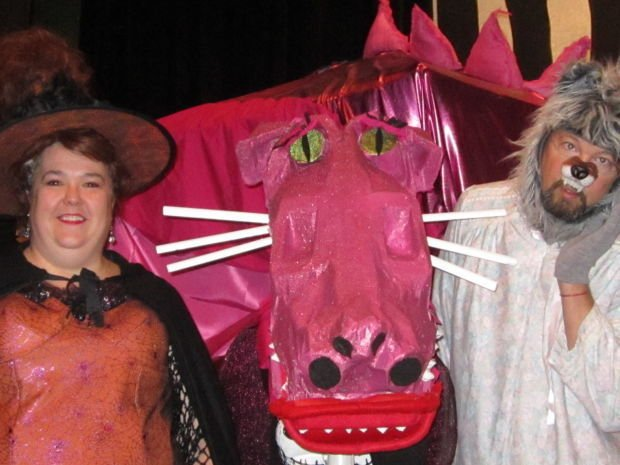 """Witch, Dragon and Wolf from """"Shrek: The Musical"""""""