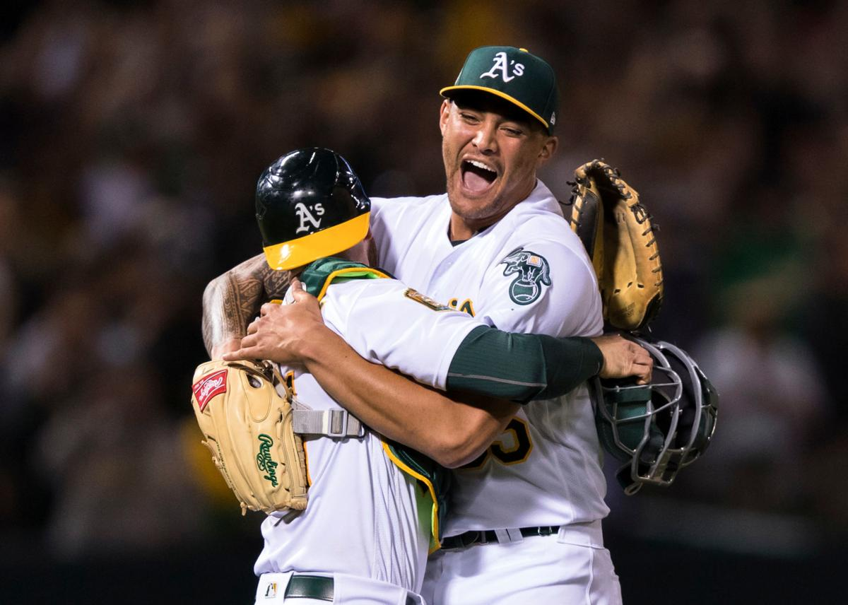 Athletics Manaea No-Hitter Baseball