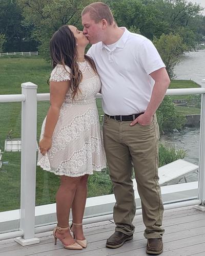 Mr. and Mrs. Dobosz tie the knot