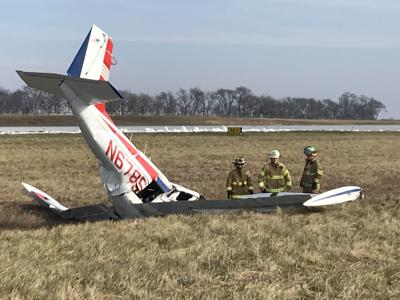 airplane sounded rough backfired before crashing at porter