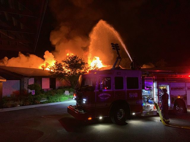 UPDATE: Chesterton banquet hall, wedding venue catches fire early Monday