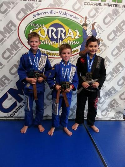 Local competitors medal at Kids World BJJ Championships